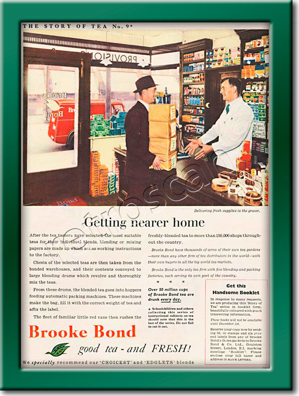 vintage Story of Tea No. 9 Brooke Bond