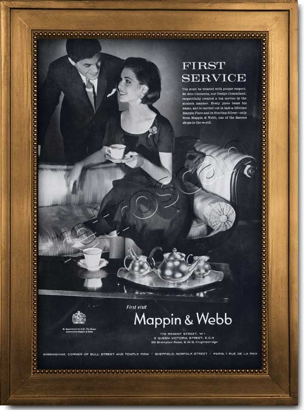 1962 vintage Mappin  and Webb advert