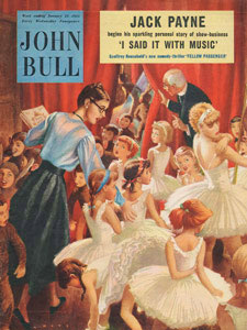 1955 January John Bull Vintage Magazine children's ballet show