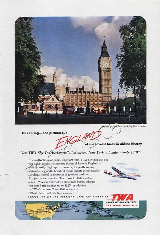 1952 TWA London - unframed