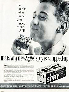 1960 Spry cooking fat - vintage ad