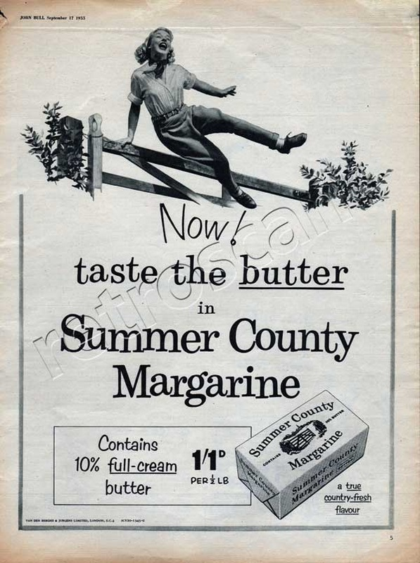 1955 Summer County Margarine vintage ad