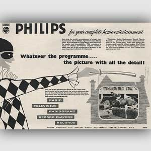 1954 Philips Home Entertainment - vintage ad