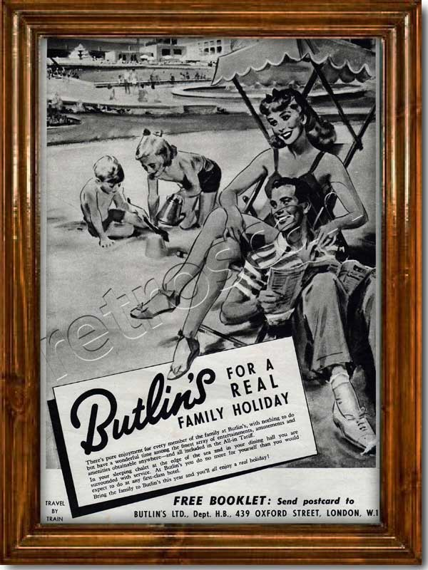 vintage 1952 Butlins advert