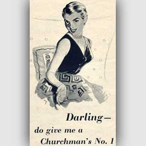 1953 Churmans' vintage ad