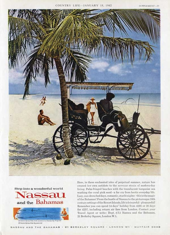 1962 Nassau and the Bahamas advert