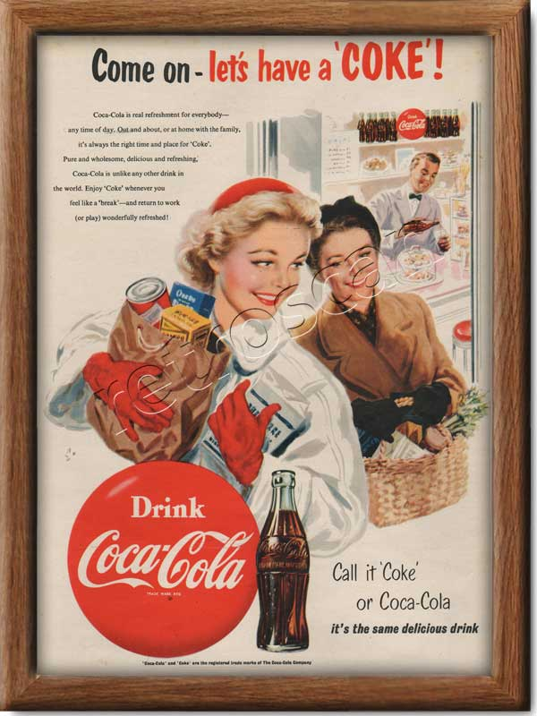 1954 Coca Cola Shopping Spree vintage advert