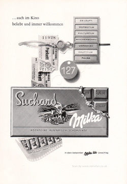 1961 Suchard Chocolate - unframed vintage ad