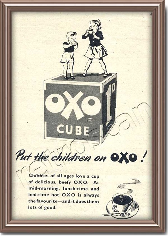 1950 OXO Cubes Vintage Ad