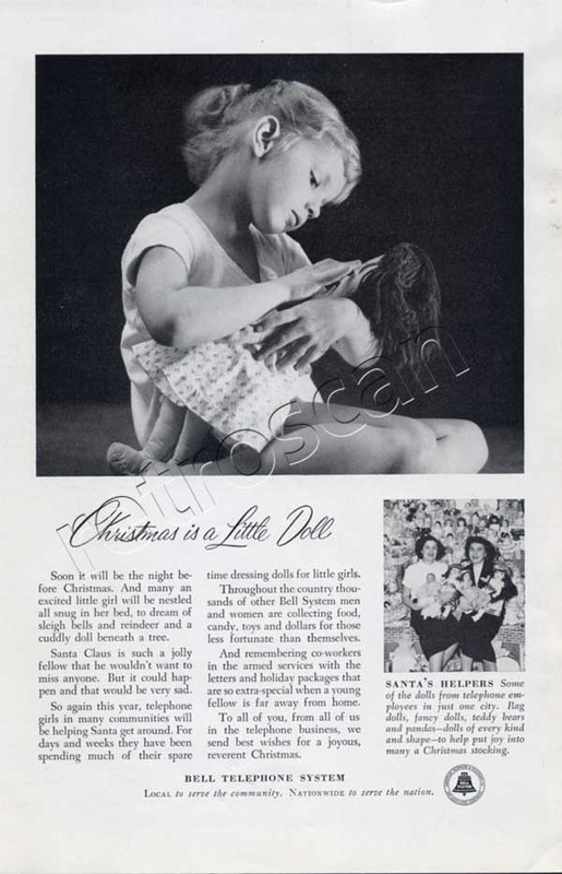 1953 Bell Telephone Girl with doll