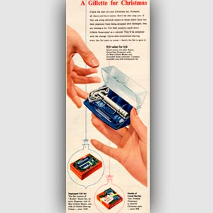 vintage Gillette advert
