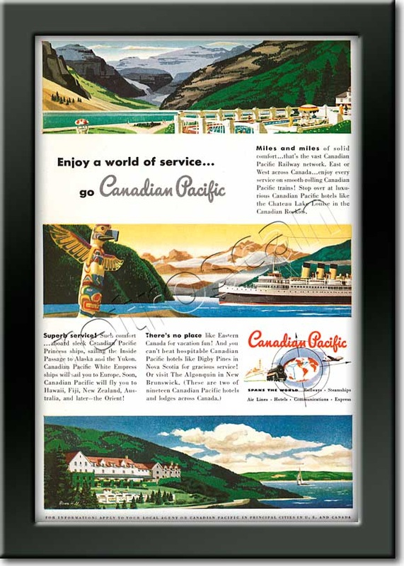 1949 vintage Canadian Pacific ad