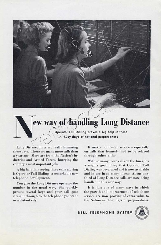 1951vintage  Bell Telephone System ad