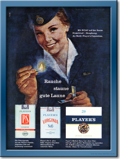 1961 Player's Cigarettes - framed preview retro