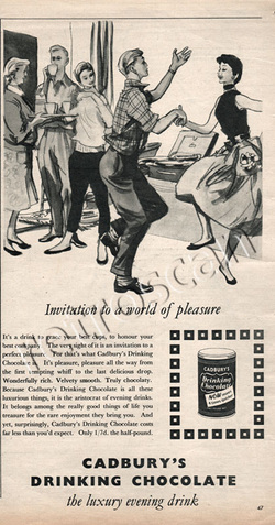 1955 Cadbury's Drinking Chocolate  vintage ad