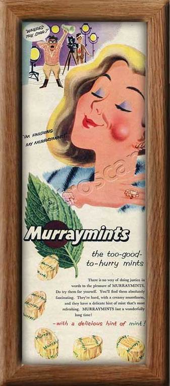 1956 vintage Murraymints ad