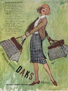 1964 Daks Tweed Skirts