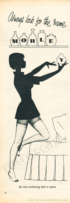 1958 Morley Stocking - unframed vintage ad