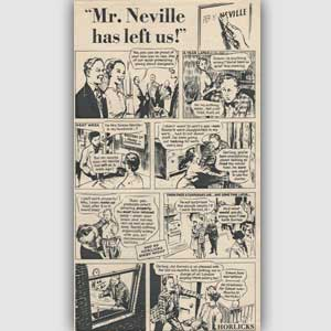 1954 Horlicks comic strip - vintage ad
