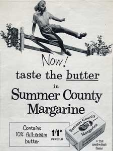 1955 Summer County Margarine