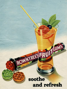 1954 Fruit Gums Glass - vintage ad