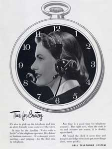 1952 Bell Telephone 'Clock' - vintage ad