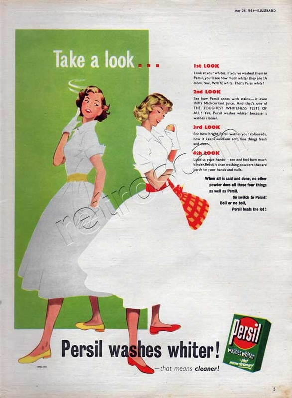 Persil Washing Powder vintage ad