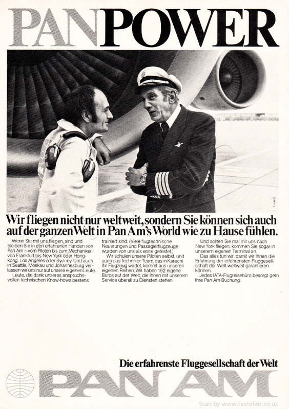 1977 Pan AM - unframed vintage ad