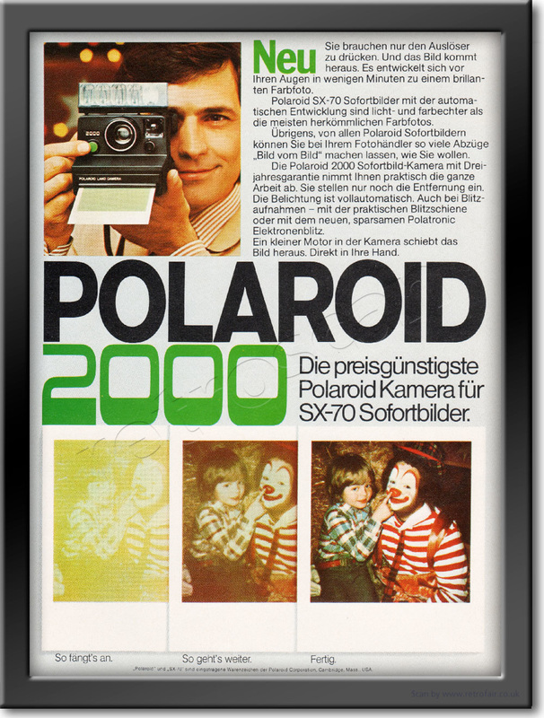 1977 Polaroid 2000 - framed preview retro