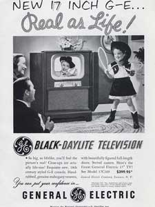 1951 General Electric Daylite Television Cowgirl