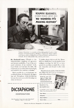 1950 Dictaphone (Norman Rockwell) - unframed vintage ad