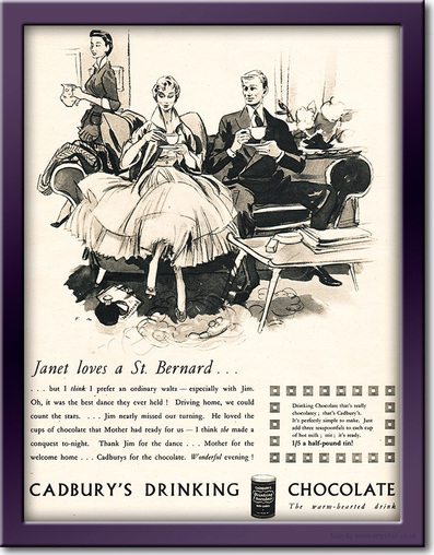 1953 Cadbury's Drinking Chocolate - framed preview retro