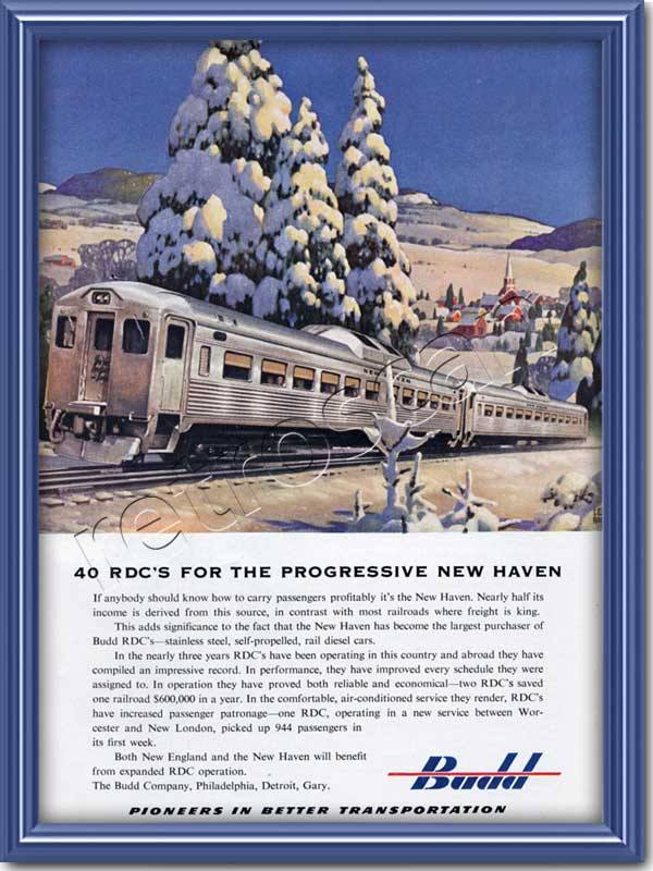 vintage 1953 Budd Engineering advert