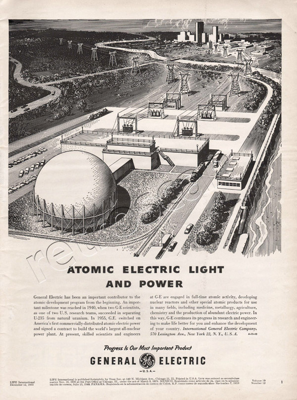 1955 General Electric Atomic Power  vintage ad