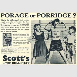 1954 Scott's Porage Oats - vintage ad