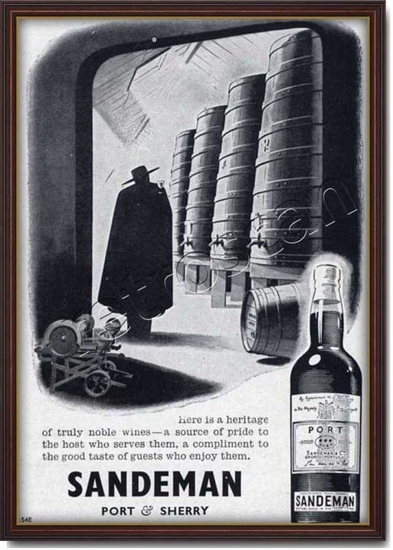 vintage 1948 Sandeman Port and Sherry