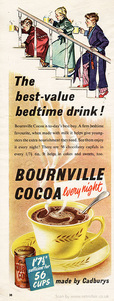 1952 Bournville Cocoa - unframed vintage ad