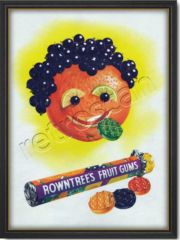 retro Rowntree's Fruit Gums advert