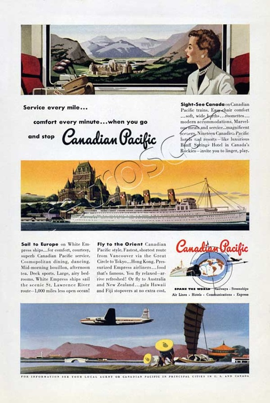 1950 Canadian Pacific vintage ad