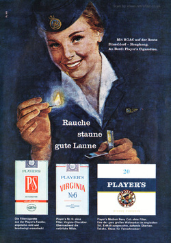 1961 Player's Cigarettes - unframed vintage ad