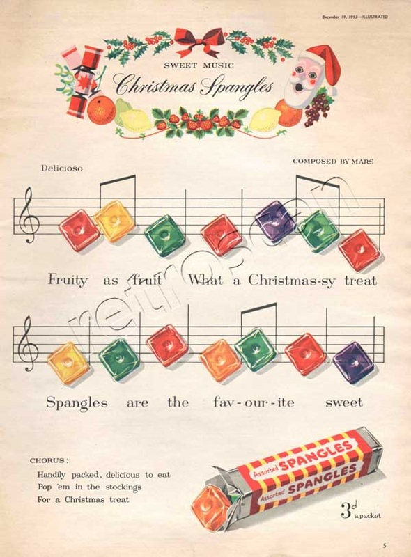 1953 Spangles Christmas  - unframed vintage ad