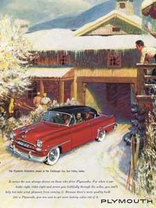 1953 Plymouth Belvedere - vintage ad