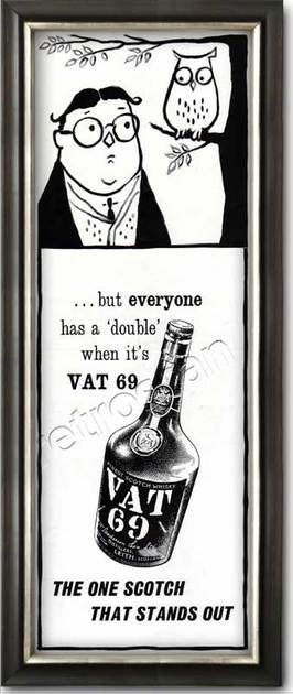vintage 1961 VAT 69 Scotch Whisky  advert
