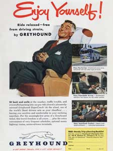 1951 Greyhound Buses