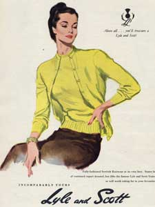 1953 Lyle and Scot Knitwear