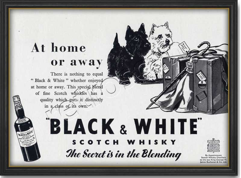 1952 Black & White Scotch Whisky  - framed preview