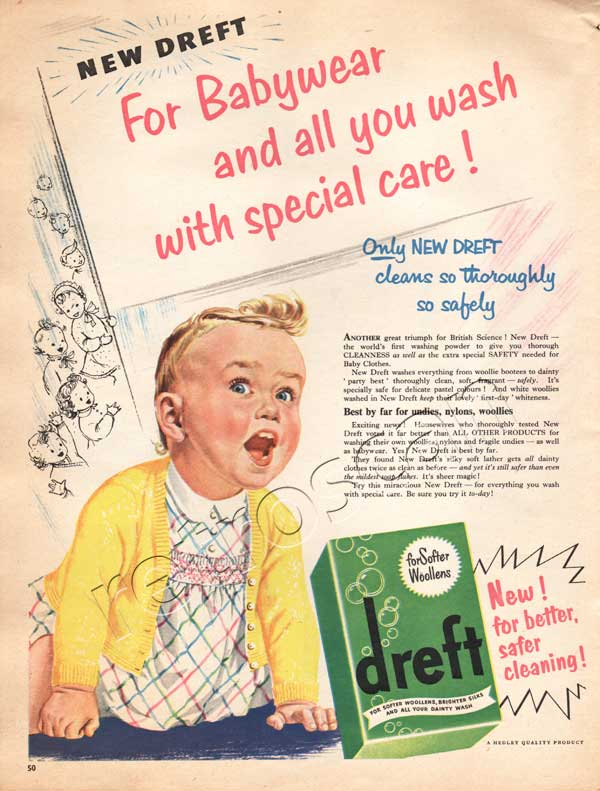 retro Dreft detergent ad