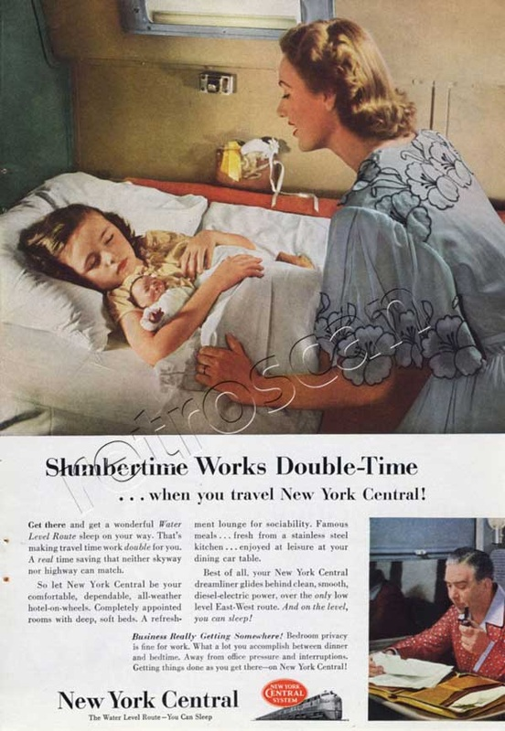 1953 vintage New York Central advert