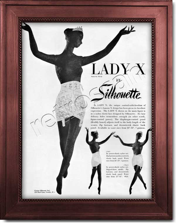vintage 1958 Silhouette Lady X