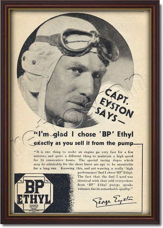 1936 vintage BP Ethyl advert